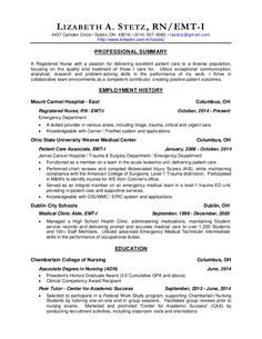 sample resumes for rns