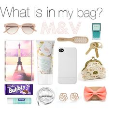 """my coin purse with here - https://www.etsy.com/shop/VasilinkaStore  """"What is in my bag: - M Collection"""" by vidal-moura on Polyvore"""