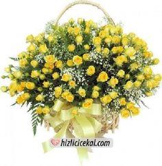 101 Sarı Gül Sepeti  424,00tl + kdv    http://www.hizlicicekal.com/cicekler/cicekciler/cicek/67/101-sari-gul-sepeti/