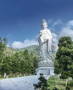 Tsz Shan Monastery in Hong Kong: the 76m-tall steel-framed, bronze-forged white statue of Guan Yin (Goddess of Mercy, also known as Kwun Yum) is a breathtaking sight. It's the world's biggest Guan Yin bronze statue, in fact. The formidable lady is twice the size of Lantau Island's Big Buddha
