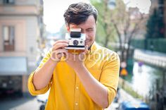 hipster young man with polaroid BUY IT FROM $1