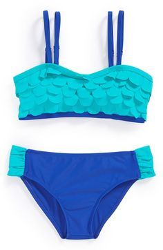 Limeapple 'Curacao' Two-Piece Swimsuit (Big Girls) available at #Nordstrom