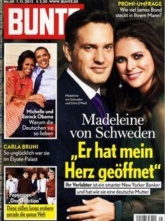2012: Madeleine von Schweden und Chris O'Neill