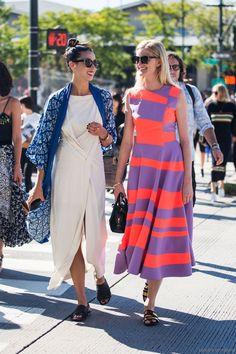 NYFW SS15 // colorful dress and kimono. {Summer & Spring}