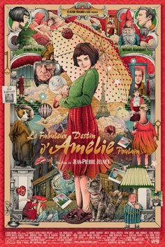 "Amelie alternative movie poster by Ise Ananphada ""Amelie is an innocent and naive girl in Paris with her own sense of justice. She decides to help those around her and, along the way, discovers love."" More Ise Ananphada AMPs: Ise Ananphada Artists Websi Poster Print, Movie Poster Art, Poster Drawing, Cinema Posters, Film Posters, Cinema Art, Video Game Posters, Video Games, Kunst Poster"