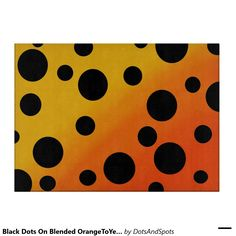 Black Dots On Blended OrangeToYellow Cutting Boards