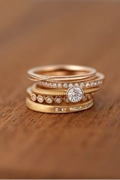 stacking engagement ring - Google Search