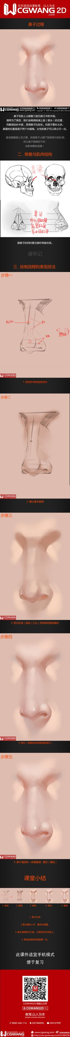 【CGWANG2D】每日教程《五官系列-...@简若明采集到绘画教程(2124图)_花瓣
