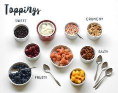 Toppings for an ice cream sundae bar!