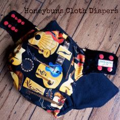 Young Guitarist Cloth Diaper by Honeybuns #guitars