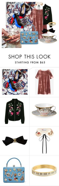 VELVET GLAM by kreateurs on Polyvore featuring Toast, Topshop, Alexander McQueen, Kate Spade, RED Valentino, Chanel and Wedgwood