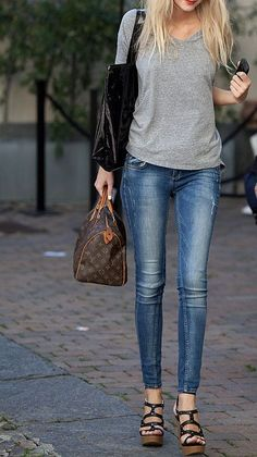 perfect skinny jeans = easy chic outfit