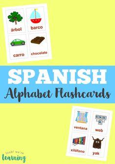 Teach your kids to identify the Spanish alphabet with these Spanish alphabet flashcards! Spanish Basics, Spanish Lessons, Spanish Class, Spanish Language Learning, Teaching Spanish, Spanish Teacher, Language Arts, Spanish Flashcards, Learn To Speak Spanish