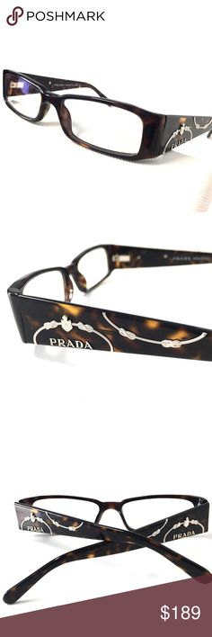 Prada Dark Tortoise Eyeglasses PRADA Eyeglasses Dark Tortoise.                    HARD TO FIND DISCONTINUED FRAME!!!!!!!!      🦋Size: 50-16-135 🦋Guarantee 100% Authentic🦋 🦋NO TRADES🦋 🦋We ship within 1 business day🦋  Authentic includes a PRADA Case no Tags!                           WITHOUT TAGS!!!  We Ship this item within in One day! Prada Accessories Glasses