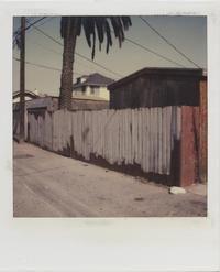 Dennis Hopper (1936–2010), Los Angeles, Back Alley, 1987. Polaroid SX-70. © Dennis Hopper, Courtesy of The Hopper Art Trust