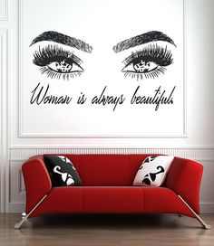 Eyelashes and Eyebrows Wall Decal Lashes and Brows Window Sticker Lashes Extensions Wall Decal Eyes Beauty Salon Wall Art - make up room studio Home Beauty Salon, Beauty Salon Decor, Beauty Room, Beauty Salon Interior, Salon Interior Design, Salon Design, Window Stickers, Wall Decal Sticker, Salon Wallpaper