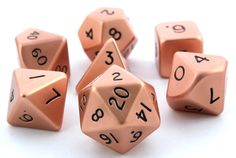 overpriced orange dice? yes please! RPG Dice Set (Metal, Copper 16mm) role playing game dice