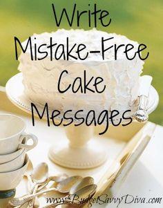 Cake Decorating Tips For Writing : Cake Writing on Pinterest Cake Decorating Piping, Baking ...
