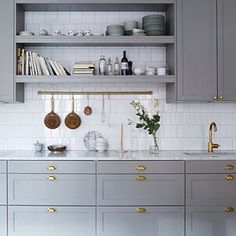 kitchen brass handles - Google Search