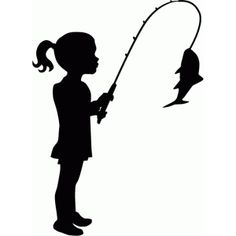Silhouette Design Store - View Design #79905: little girl fishing silhouette