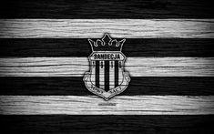 Download wallpapers Sandecja Nowy Sacz, 4k, Ekstraklasa, wooden texture, football, Poland, Sandecja FC, soccer, football club, FC Sandecja Nowy Sacz