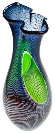bob crooks glass art | Fishnet twister by Bob Crooks