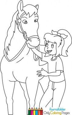 Bibi Und Tina 5 - Home Decor Wholesalers Horse Coloring Pages, Printable Coloring Pages, Colouring Pages, Coloring Books, Mandala Art, Diy For Kids, Marie, Art Drawings, Techno