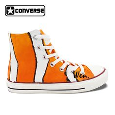 2016 New Shoes Clownfish Hand Painted Shoes Converse Cguck Taylor High Top  Canvas Sneakers Christmas Gifts
