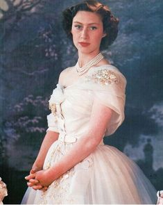 """Princess Margaret in a custom Christian Dior gown for her Birthday, Photo by Cecil Beaton, She later described it as """"my favorite dress of all"""". It is currently on display at the V&A Museum in London. Princesa Margaret, Princesa Diana, Princess Margaret Young, Queen's Sister, Prinz Philip, Royal Family Pictures, Margaret Rose, Queen Margrethe Ii, Duchess Of York"""
