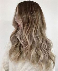 Golden Blonde Balayage for Straight Hair - Honey Blonde Hair Inspiration - The Trending Hairstyle Best Ombre Hair, Brown Ombre Hair, Ombre Hair Color, Hair Color Balayage, Colour Melt Hair, Brown Blonde, Beige Blonde Balayage, Pale Blonde, Brunette Highlights