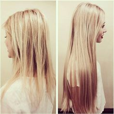Hair extensions before after pictures at monaco hair salon in it is so hard to grow your hair long when you have bleached hair get some assistance with zala hair extensions pmusecretfo Gallery