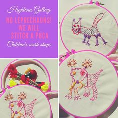 I will be running Children's work shops in response to Rita Duffy's forthcoming Exhibition on July Contact the gallery for details. Buy Fabric, Working With Children, Textile Artists, Vintage Fabrics, Leprechaun, Hand Stitching, Hand Embroidery, Two By Two, Workshop