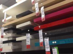 ikea easy to setup colorful shelving