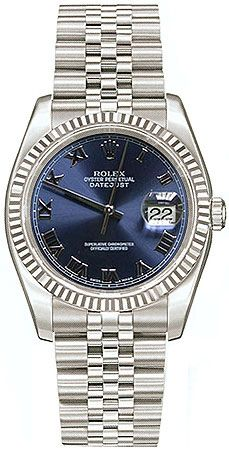Rolex Datejust: Blue Roman Dial/Jubilee Bracelet/Fluted Bezel. Great Wedding Gift for the man of my dreams