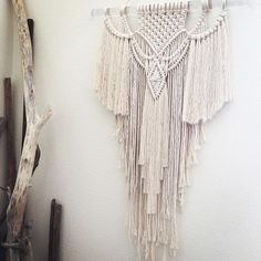 """""""Rise"""" continues to be my most popular pattern to date. Here is her latest reincarnation on lucite for @itss_monicaa. #customorder #Oakland #ca #bayarea #macrame #modernmacrame #draping #bohemian #boho #glam #lucite #tapestry #fringe #decor #design #interiors #interiordesign #sanfrancisco #sf #alameda #berkeley #localartist #niromastudio"""