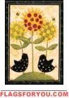 Sunflower Chicks Garden Flag