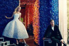 Raf Simons and Diane Kruger.    Vogue's Top 120 Fashion Influencers: Supermodels, Stylists, & Kristen Stewart