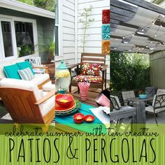 Celebrate summer with 10 creative outdoor patios and pergolas | remodelaholic.com #summer #patio #pergola @remodelaholic