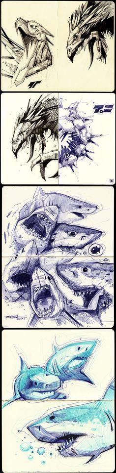 Sketches 2011-2013 by Artem Solop Kiev, Ukraine on Behance  | Character Design | Drawing |  Illustration | Drawing | Draw | Sketch | Doodle | Ilustração |: