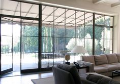 Beautiful windows and doors in a house designed by William Hefner.