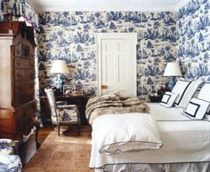 guest room in Aerin Lauder's home