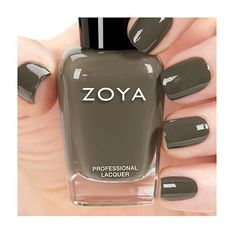 Zoya Charli - Charli by Zoya can be best described as a dusty taupe cream that has a hint of green, but is still a perfect neutral.  Color Family - Taupe ; Finish - Cream ; Intensity - 5 ( 1 = Sheer - 5 = Opaque ) ; Tone - Cool, Neutral.