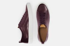 Chic Minimalist Sneakers for Adults - Design Milk Vans Sneakers, Sneakers Fashion, Fashion Shoes, Me Too Shoes, Men's Shoes, Minimalist Sneakers, Burgundy Sneakers, Style And Grace, Shoe Collection