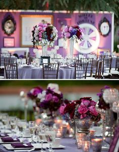 Love the flower arrangements... And the vases