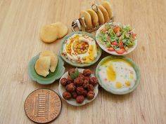 Tiny food by Shay Aaron Barbie Food, Doll Food, Food Sculpture, Sculptures, Biscuit, Gluten Free Party Food, Tiny Food, Fake Food, Mini Things