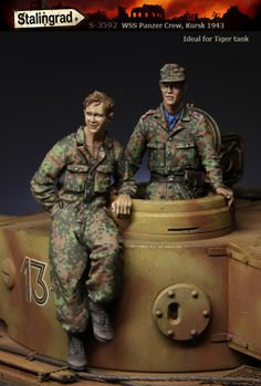 SS tank crew from Stalingrad Miniatures. 1/35 scale resin figures now in stock! Click on the picture for more details