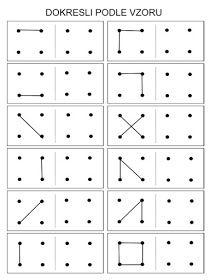 Pro Šíšu: Dot to dot Kindergarten Prep, Kindergarten Math Worksheets, Preschool Prep, Worksheets For Kids, Toddler Learning Activities, Montessori Activities, Kids Learning, Visual Perception Activities, Montessori Practical Life