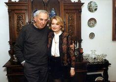 Gustaw Holoubek z żoną Magdą Zawadzką
