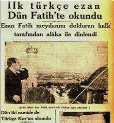 4 ŞUBAT 1933, EZAN'IN TÜRKÇE OKUNMASI İÇİN DİYANET İŞLERİ BAŞKANLIĞI GENELGE YAYINLADI.. 1931 yılının Aralık ayında, Mustafa Kemal Atatürk'ün cumhurb... - Yakup Bilgin - Google+