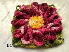 flores de croche em barbante passo a passo - Pesquisa Google